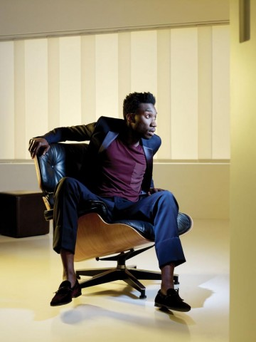 "Nathan Stewart-Jarrett photographed for ""Drama Ties"", a photographic essay printed in the 2011 Television Awards programme."
