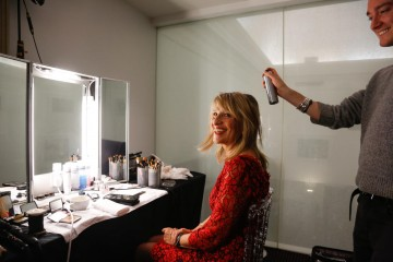 BAFTA Chair Jane Lush getting ready