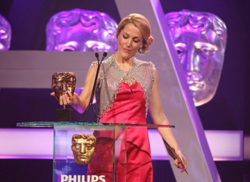 Gillian Anderson presents the award for Male Performance in a Comedy Programme.
