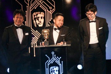 The Bloodborne team collect the award for Game Design