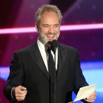 Honoree Sam Mendes accepts the John Schlesinger Britannia Award for Excellence in Directing sponsored by the GREAT Britain campaign.