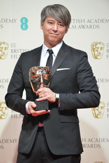 Editing - Whiplash: BAFTA winner Tom Cross celebrates his award