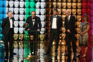Grand Designs Production Team accept the award for Features