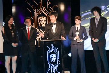 The Sundown Team collect the award for BAFTA Ones To Watch Award in association with Dare to Be Digital