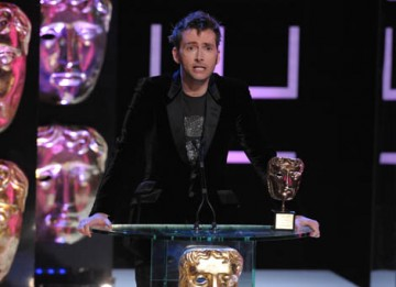 Timelord actor David Tennant thanks Jane Tranter for the role she played in revitalising the Doctor Who franchise (BAFTA / Marc Hoberman).