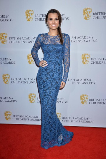 Les Miserables star Samantha Barks strikes a pose on the red carpet at the British Academy Children's Awards in 2014