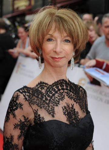 Coronation Street star Helen Worth arrives on the red carpet outside the London Palladium (BAFTA/Richard Kendal).