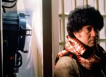 Almodóvar on the set of Tie Me Up! Tie Me Down! (1990) ©Mimmo Cattarinich