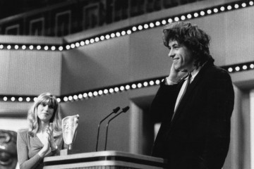In 1986, the Television Award for Originality is awarded to Bob Geldof for Live Aid for Africa. The Award was presented by Selina Scott.