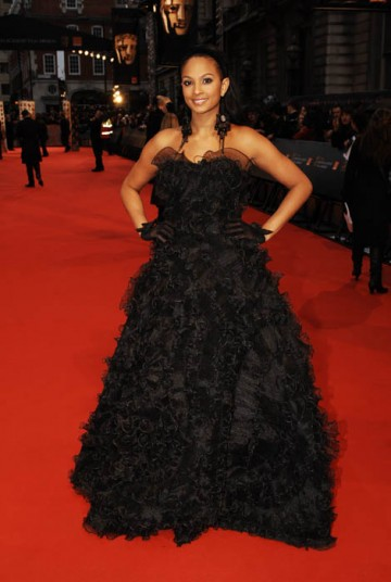 Strictly Come Dancing winner in 2007 Alesha Dixon did the red carpet waltz in Giovanni style (BAFTA / Richard Kendal).