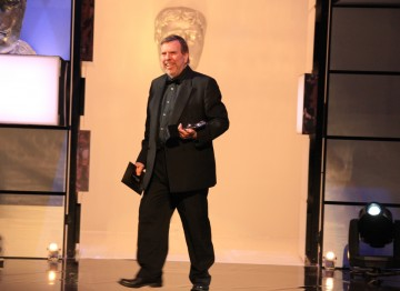 British actor Timothy Spall presents the Supporting Actress prize.