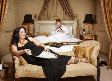 Ruth Jones and James Corden for the Television Awards comedy photoshoot in 2010.
