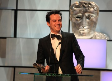 Andrew Scott, who won for his performance as Moriarty in series 2 of Sherlock.