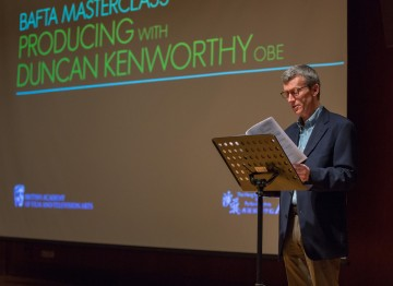 Duncan Kenworthy delivers a producing masterclass at the Hong Kong Academy for Performing Arts.