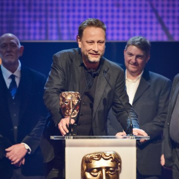 Clangers collects the BAFTA for Pre-School Animation at the British Academy Children's Awards in 2015