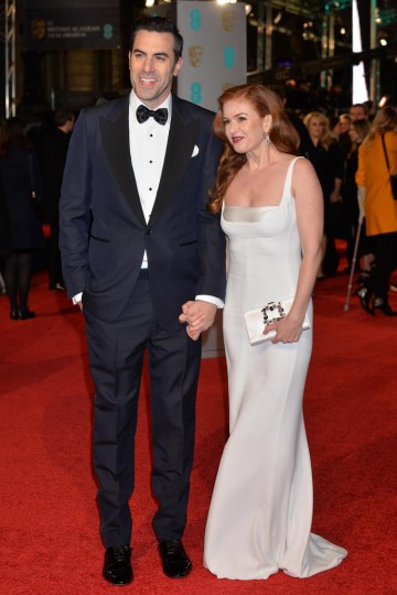 Sacha Baron Cohen and wife Isla Fisher make the perfect couple on the red carpet