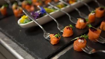 Canapés created by BAFTA 195's Head Chef Anton Manganaro