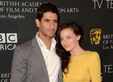 Actor Raza Jaffrey and actress Lara Pulver