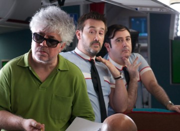 Almodóvar on the set of I'm So Excited, due for release in 2013. ©Paola Ardizzoni & Emilio Pereda