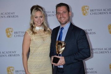 Gravity Falls wins the International category at the British Academy Children's Awards in 2015, presented by Kimberly Wyatt.