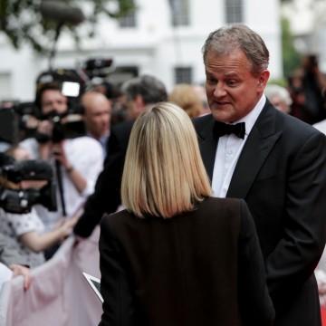 Hugh Bonneville answers questions before the BAFTA Downton Abbey Tribute event.