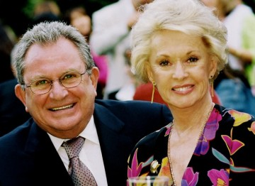 BAFTA Los Angeles Chairman Gary Dartnall with Tippi Hedren