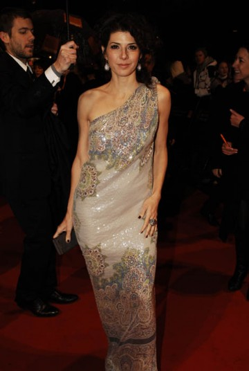 Marisa Tomei, in the Best Supporting Actress category for The Wrestler, brought a dash of shimmering colour to proceedings in this sari-style gown by Etro (BAFTA / Richard Kendal).