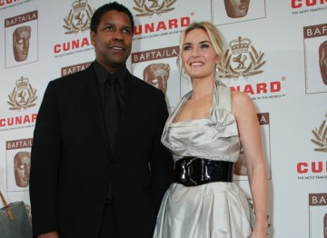 Award honorees Denzel Washington and Kate Winslet