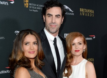 Salma Hayek, Sacha Baron Cohen and Isla Fisher