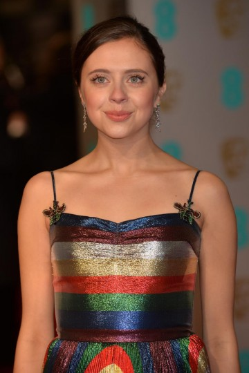 EE Rising Star nominee Bel Powley arrives on the red carpet