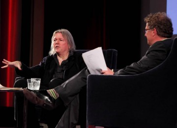 Matthew sweet in conversation with screenwriter Christopher Hampton, with films including Atonement and Dangerous Liaisons to his name. (Photography: Jay Brooks)