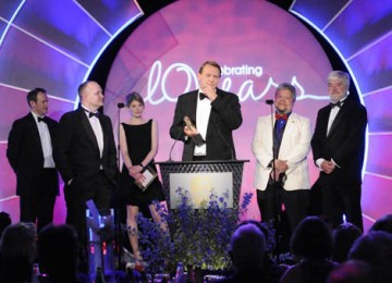 Wallander claimed its thrid BAFTA of the night as Bosse Persson, Lee crichlow, Iain Eyre and Paul Hamblin collected the Sound Fiction/Entertainment award (BAFTA / Richard Kendal).