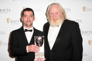 Garry Fraser accepting on behalf of Danny Boyle & citation reader James Cosmo, Director Fiction