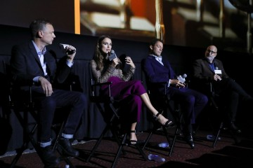 Dominic West, Keira Knightley, Wash Westmoreland and Joe Neumaier
