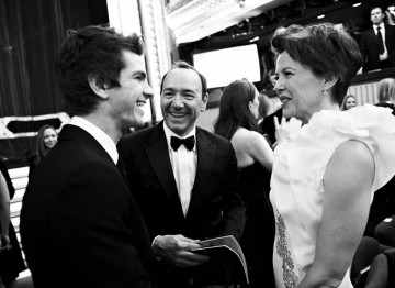 Kevin Spacey, Andrew Garfield and Annette Bening at the 2011 Film Awards