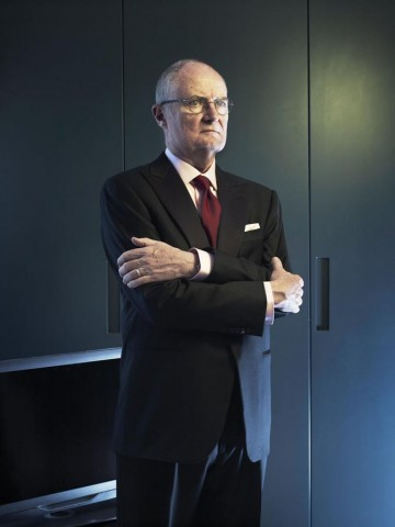 """Jim Broadbent photographed for """"Drama Ties"""", a photographic essay printed in the 2011 Television Awards programme."""
