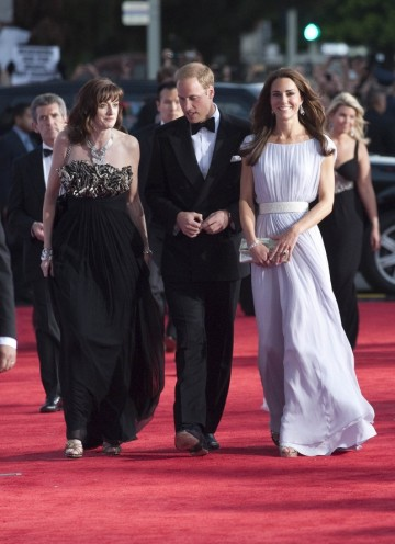 Amanda Berry arrives with the Duke and Duchess of Cambridge at the Belasco Theatre in LA