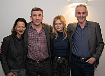 Producer Gabrielle Tana, Steve Coogan, Sophie Kennedy Clark and novelist Martin Sixsmith.