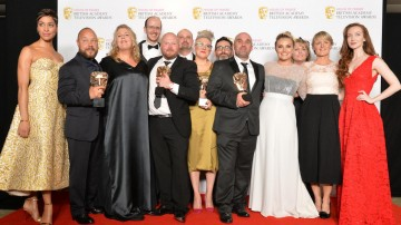 The This is England '90 team accept their award for Mini Series