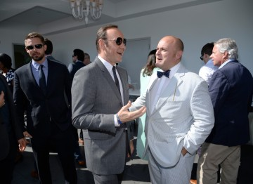 Actor Kevin Spacey and BAFTA LA's deputy chair Nigel Daly