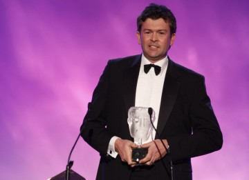 David Tyler accepts the Game Award of 2009 after Call of Duty: Modern Warfare 2 was voted the favourite title of the last 12 months by the British Public (BAFTA/Brian Ritchie)