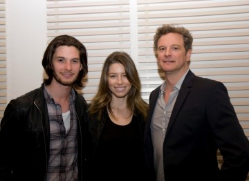 Ben Barnes, Jessica Biel and Colin Firth
