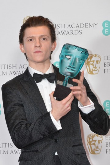 Tom Holland, winner of the EE Rising Star Award.