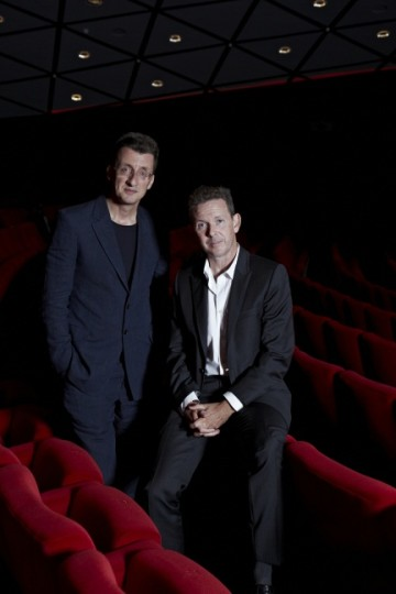 Logan pictured with Jeremy Brock, curator of the Screenwriters' Lecture series. (Picture: BAFTA / J. Birch)