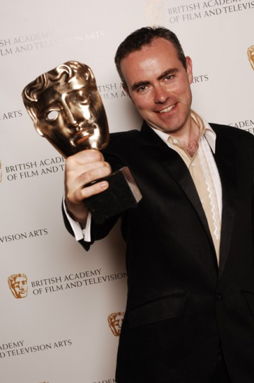 The Director Fiction Award was won by John Crowley for Boy A, completing the programme's hat-trick of masks (pic: BAFTA / Richard Kendal).