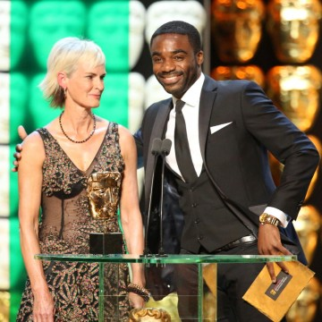 Ore Oduba and Judy Murray present the award for Sport and Live Event