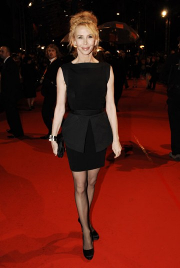 Trudie Styler is the producer of Moon, which is down for Outstanding British Film award. Her little black dress is from Victoria Beckham (BAFTA/Richard Kendal).