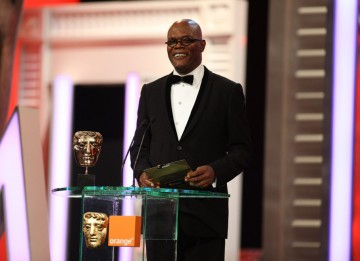 Hollywood actor Samuel L Jackson reveals the Best Film winner (Pic: BAFTA/Stephen Butler)