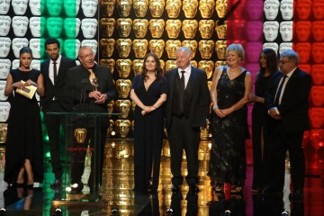 Coronation Street Production Team accept the award for Soap and Continuing Drama