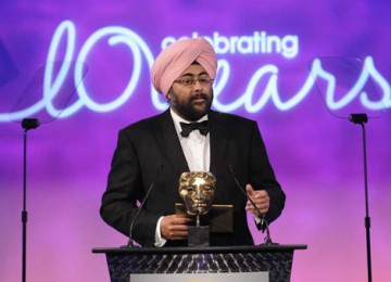 Comedian and writer Hardeep Singh Kohli took up the challenge of presenting both Editing awards (BAFTA / Richard Kendal).